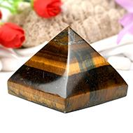 Pyramid in Natural Tiger Eye - II