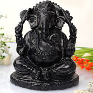 Ganesha statue in Blue Stone - 709 gms