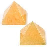 Pyramid in Natural Yellow Jade - Set of 2 - 34 gms