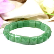 Green Jade Bracelet - Square Beads