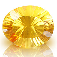 Yellow Citrine Superfine Cutting - 8.20 carats - Oval