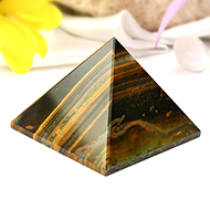 Pyramid in Tiger Eye-Luck and stability-111 gms