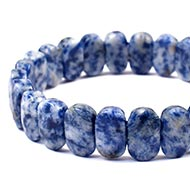 Sodalite  Bracelet - Faceted Beads - I