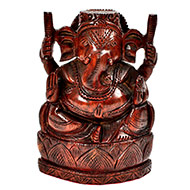 Red Sandalwood Ganesha