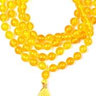 Yellow Agate mala