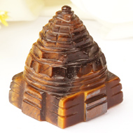 Shree Yantra in Tiger Eye Stone - 69 gms