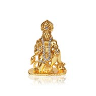 Studded Silver Hanuman
