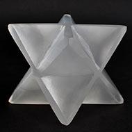 Star Pyramid in Selenite - 261 gms