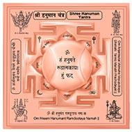 Siddh Meru Hanuman Yantra on Lotus