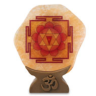 Shree Gayatri Yantra on Yellow Jade