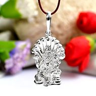 Lord Narasimha Locket in Pure Silver