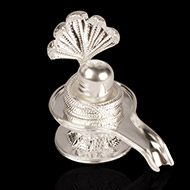 Shivling in pure silver