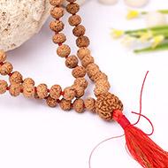 7 mukhi Mahalaxmi mala - 7 mm - Chikna beads