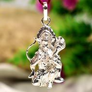 Hanuman locket - in pure silver - Design VI