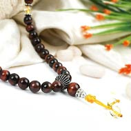 Red Tiger Eye and Citrine beads Mala