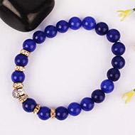 Blue Agate Buddha Bracelet