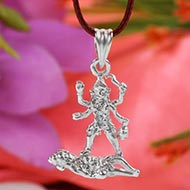 Mahakali Locket in Pure Silver - Design III