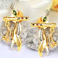 Gold Plated Krishna Earrings