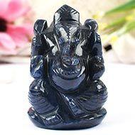 Blue Jade Ganesha - 150 gms