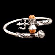 Trishul Designer Kada in Pure silver - I