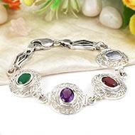 Mahalaxmi Ratna Kavacham - 3 to 4 carat gems - Design I