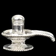 Shivling in pure silver - Design II