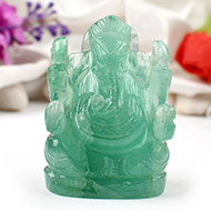 Fluorite Ganesha - 188 gms - Right Trunk