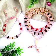 Rose Quartz mala and bracelet (Sacred Heart)