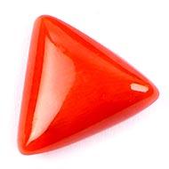 Italian Coral triangular - 7.30 carats