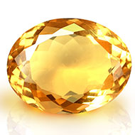 Yellow Citrine - 8 carats - Oval