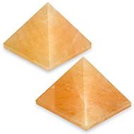 Pyramid in Natural Yellow Jade - Set of 2 - I