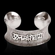 Om Namah Shivaya Bracelet - Pure Heavy Silver - I