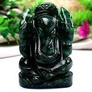 Green Jade Ganesha - 116 gms