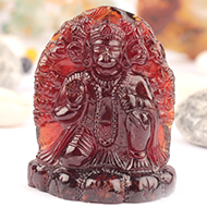 Hanuman in Gomed - 209 carats