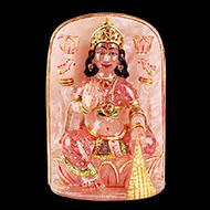 Padmasundari Rose quartz Laxmi idol - 760 gms