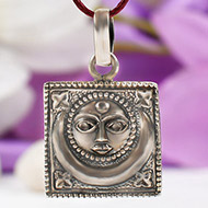Surya Locket in pure silver - Design V