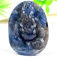 Ganesha in Blue Sapphire - 58.95 carats