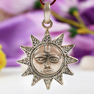 Surya Locket in pure silver - Design VI