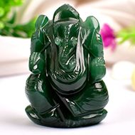 Ganesha in Columbian Green Jade  - 73 gms