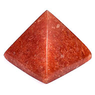 Pyramid in Natural Red Jade - 47 gms