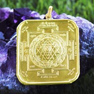 Shree Yantra locket in 22 ct pure gold