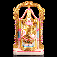 Lord Venkateshwara in white marble idol