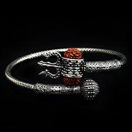 Trishul Designer Kada in Pure silver - III