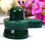 Light Green Jade Shivlinga - 34 gms
