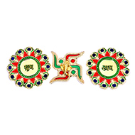 Shubh Labh Sticker with Swastik - I