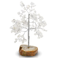 Natural White Crystal Chakra Vastu Tree - Small