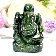 Green Jade Ganesha - 88 gms - I