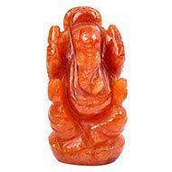 Red Jade Ganesha - 74 gms