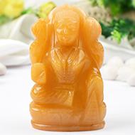 Laxmi in Yellow Jade - 272 gms