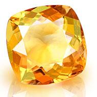 Yellow Citrine - 6.75 carats - Square Cushion